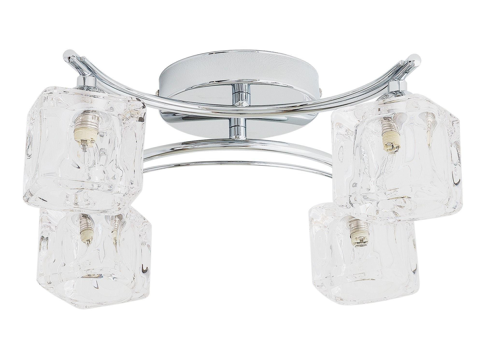 Argos Home Cuba 4 Light Ice Cube Ceiling Fitting - Chrome
