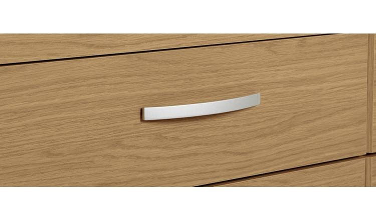 Argos Home Hallingford 4+4 Drawer Chest - Oak Effect