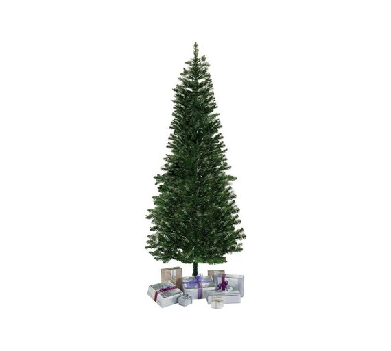 Buy HOME 6ft Slim Christmas Tree Evergreen At Argos Co Uk Your  - 6 Ft Christmas Tree