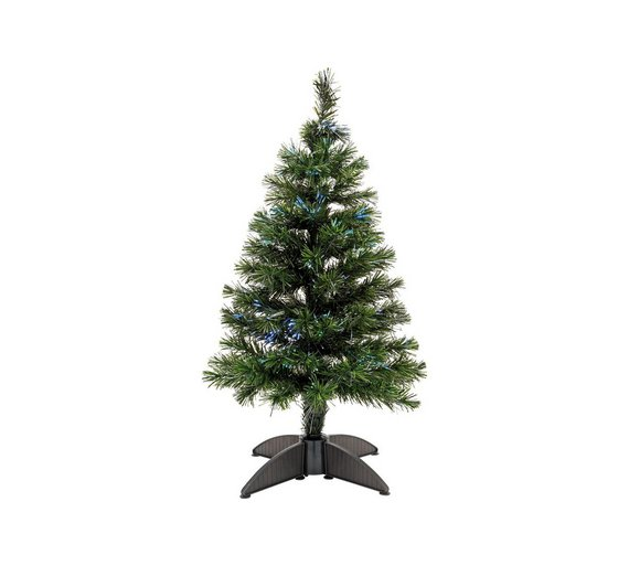 Buy 3ft Mini Fibre Optic Christmas Tree Green At Argos Co Uk  - Fibre Optic Christmas Tree Uk Only