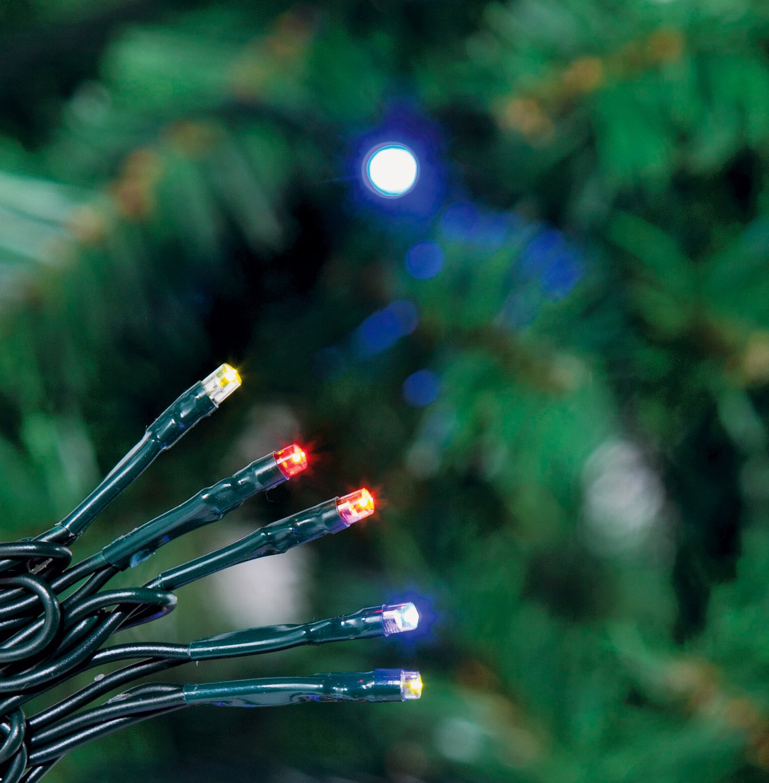 80 Multi-Function LED Christmas Tree Lights - Multicoloured