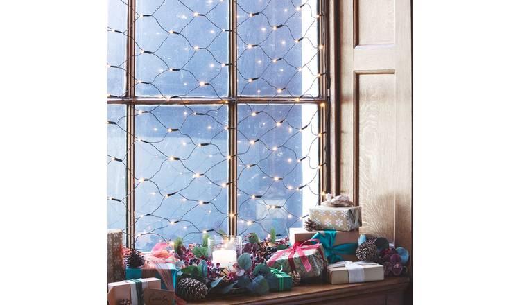 Buy Argos Home 160 Net LED Christmas Lights - Warm White ...