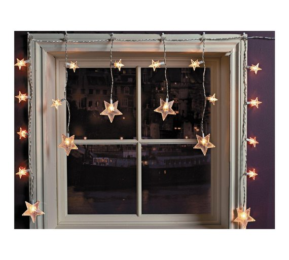 20 star window christmas decoration lights clear2699134