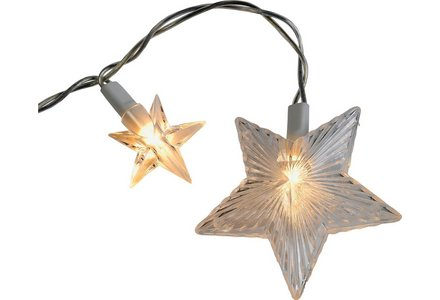 Image of 20 Star Window Christmas Decoration Lights - Clear.