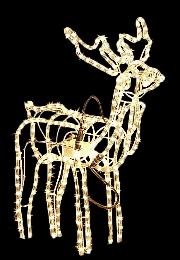 Sale On Nodding Reindeer Silhouette Christmas Decoration
