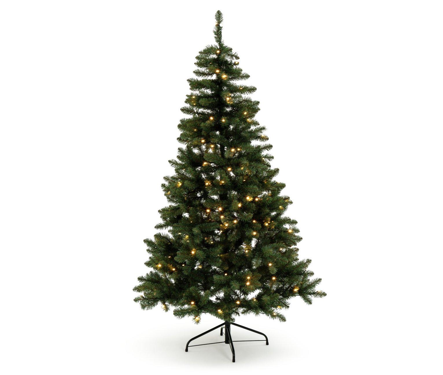 Green Spruce 180 Light Pre-lit Christmas Tree - 6ft