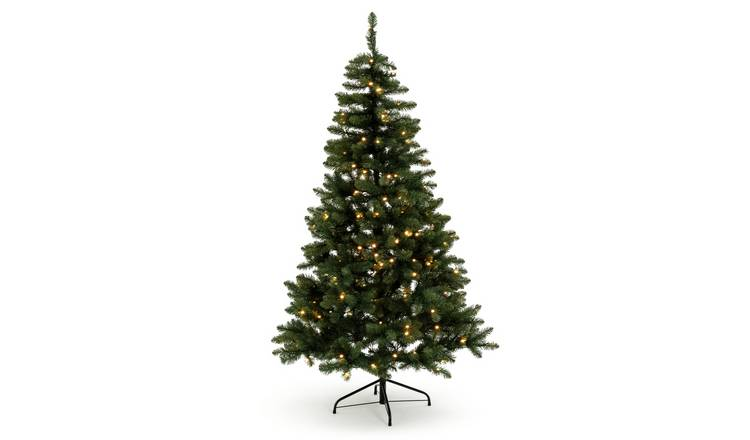 Buy Argos Home 6ft Pre-lit Spruce Christmas Tree