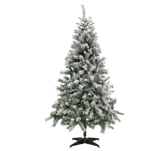 argos home 6ft snow covered christmas tree green