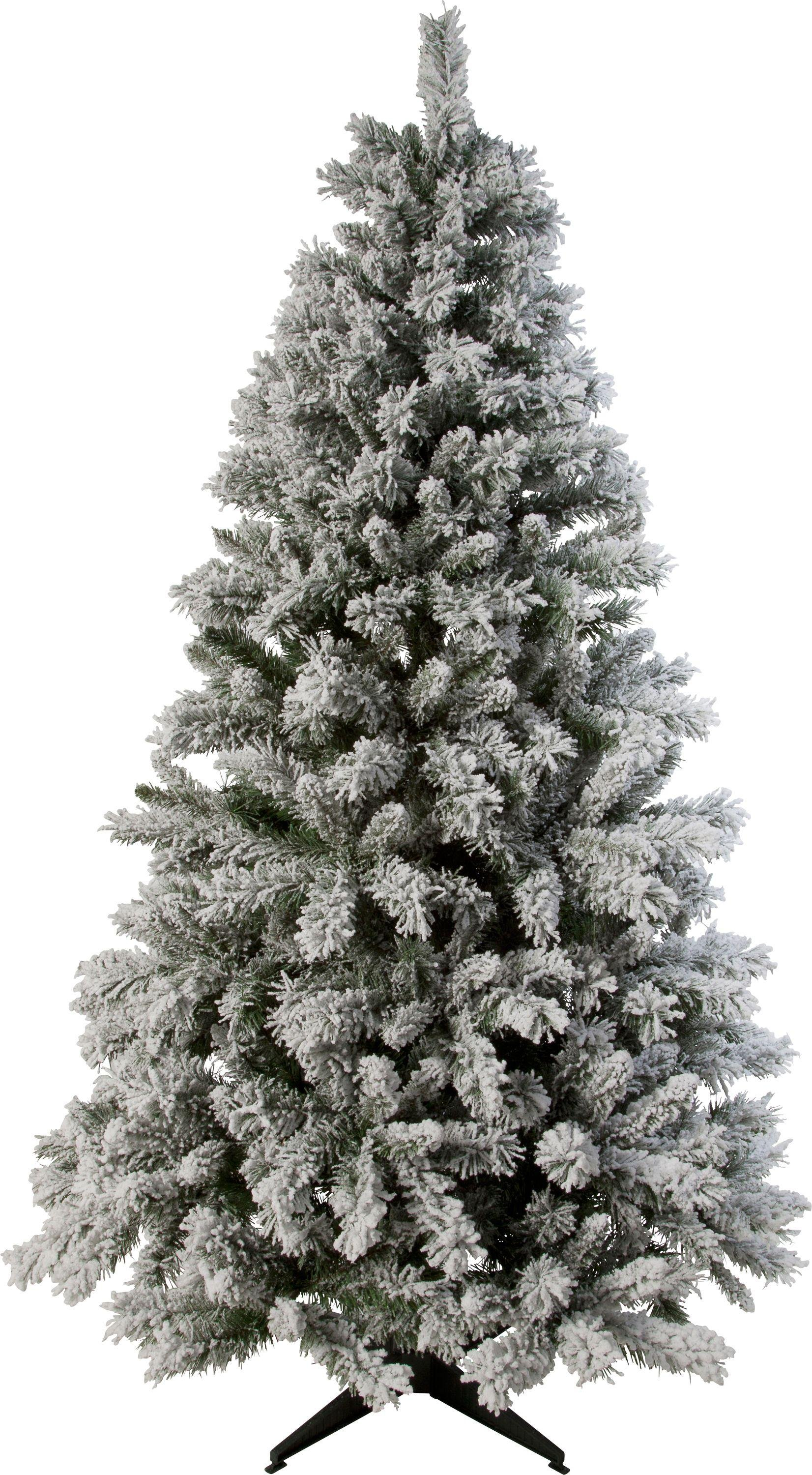 Image of Collection - 6ft Snow Covered Christmas Tree - Green