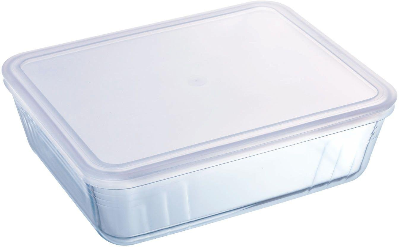 Image of Pyrex - 26 Litre Glass Rectangular Dish with Plastic Lid