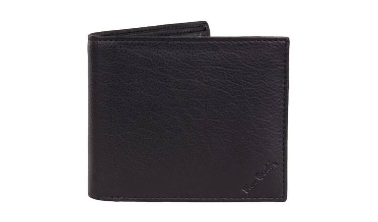 Pierre Cardin Men's Black Leather Wallet and Gift Box