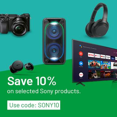 Save 10% on selected Sony products. Use code: SONY10.