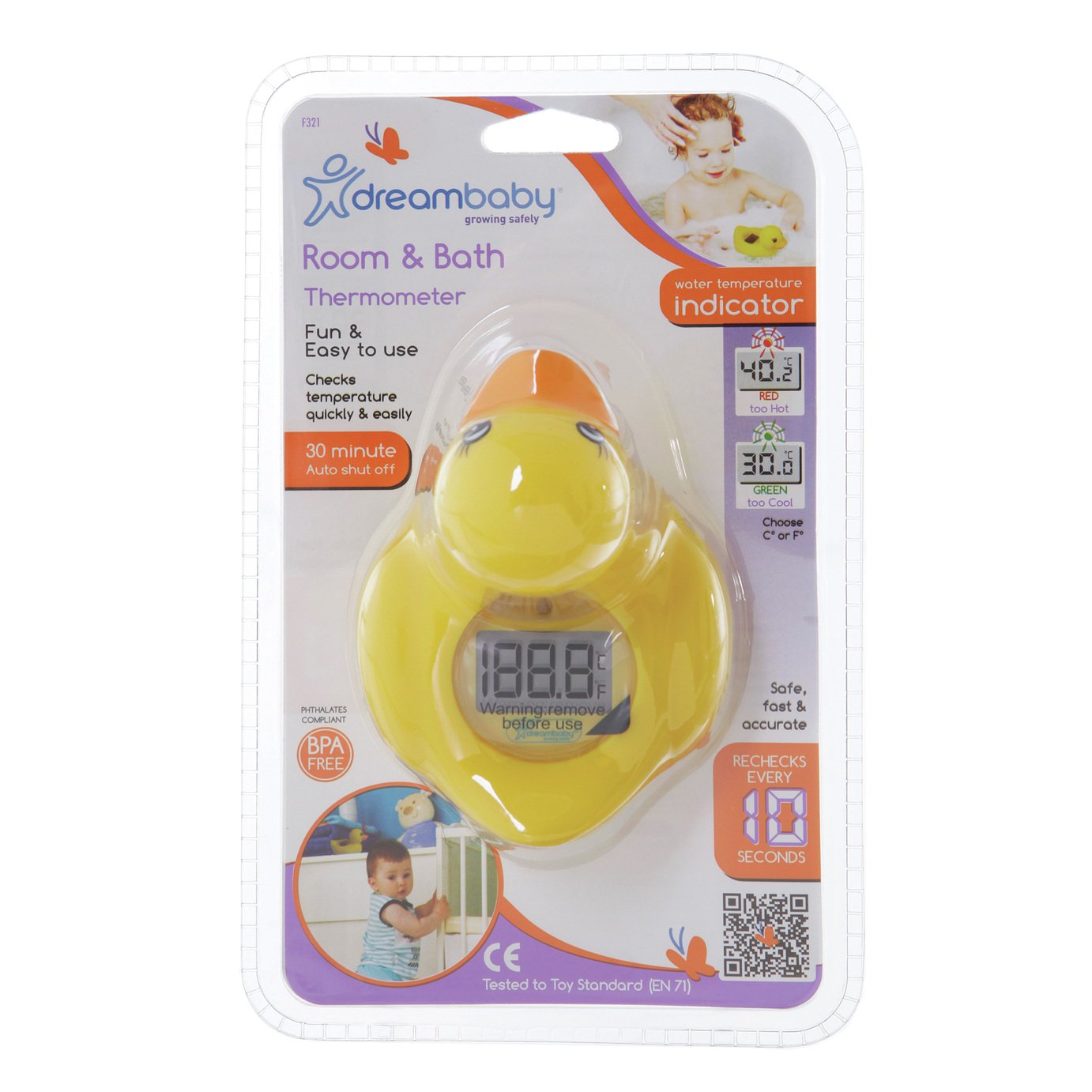 Dreambaby 2 in 1 Digital Bath and Room Thermometer - Duck