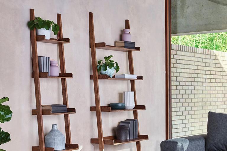 Image of two ladder shelves.