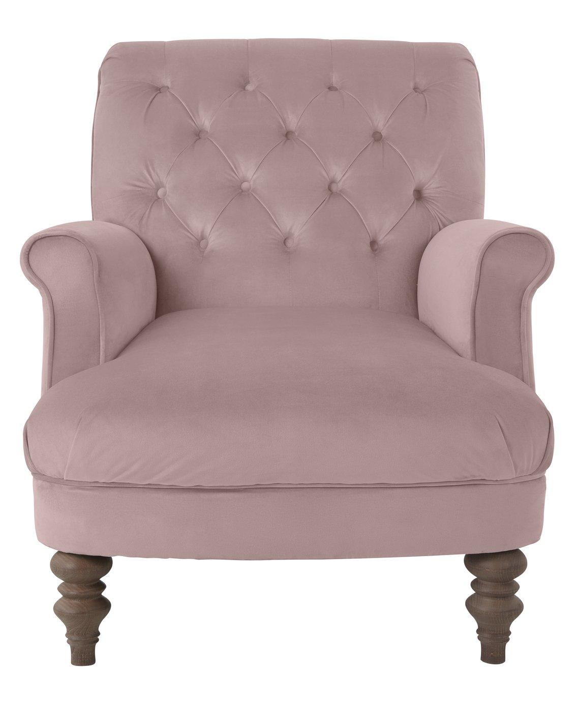 Argos Home Valerie Velvet Accent Chair - Pink