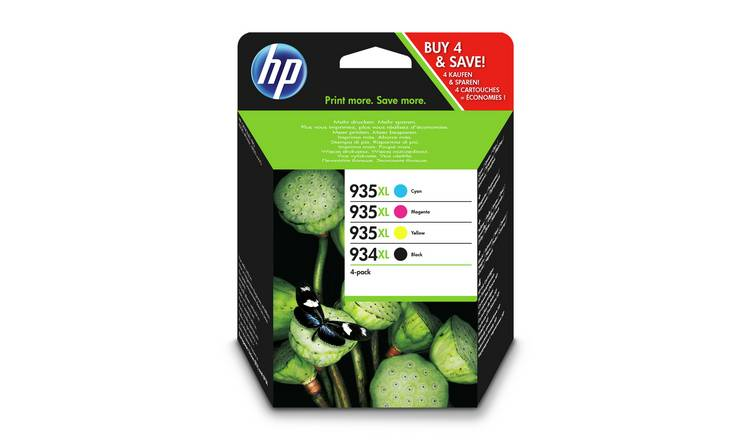 HP 935XL / 934XL High Yield Ink Cartridges - Black & Colour