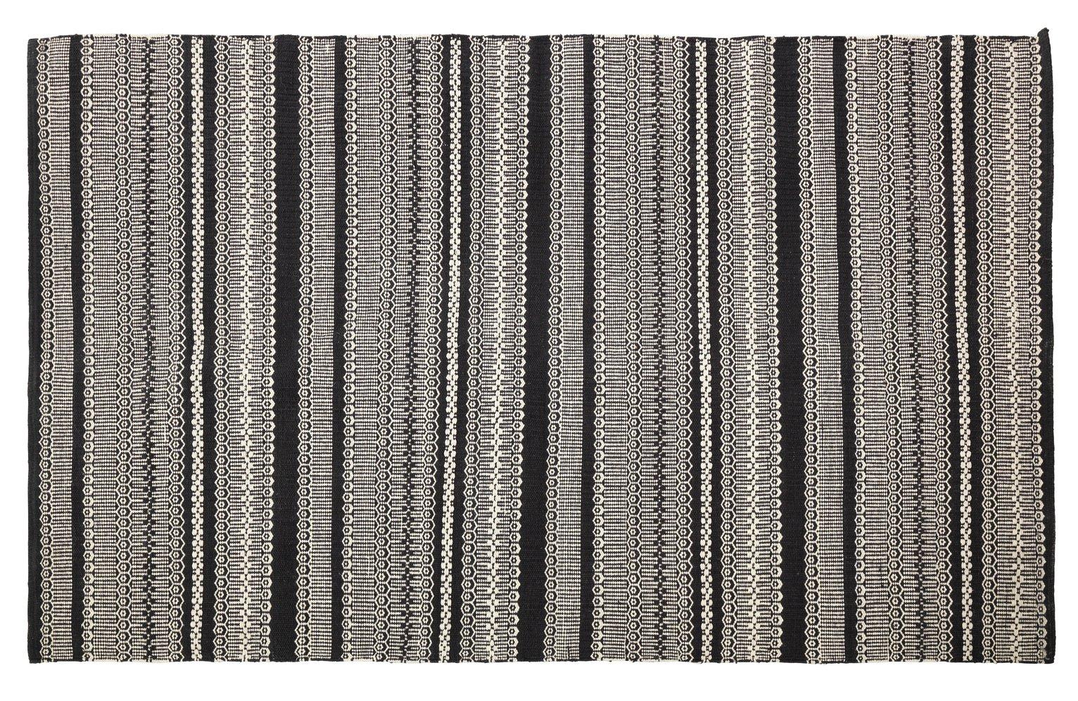 Habitat Agnes Rug - 120x80cm - Black & White