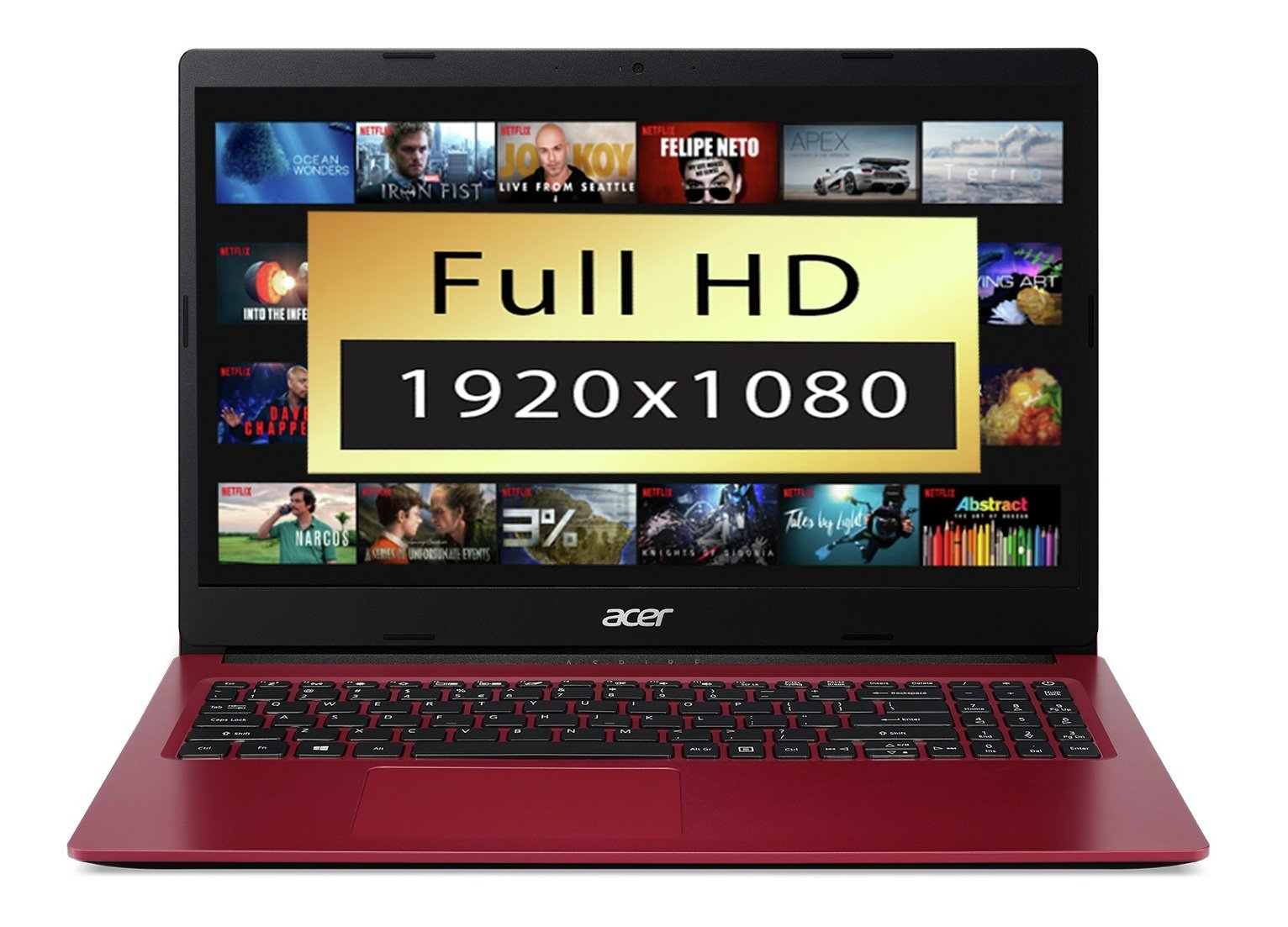 Acer Aspire 3 15.6 Inch A9 4GB 1TB FHD Laptop - Red
