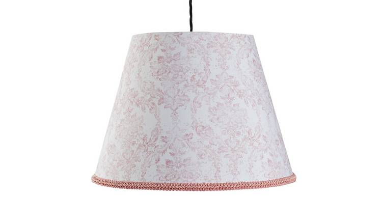 Argos Home Le Marais Printed Tapered Shade - Pink & White