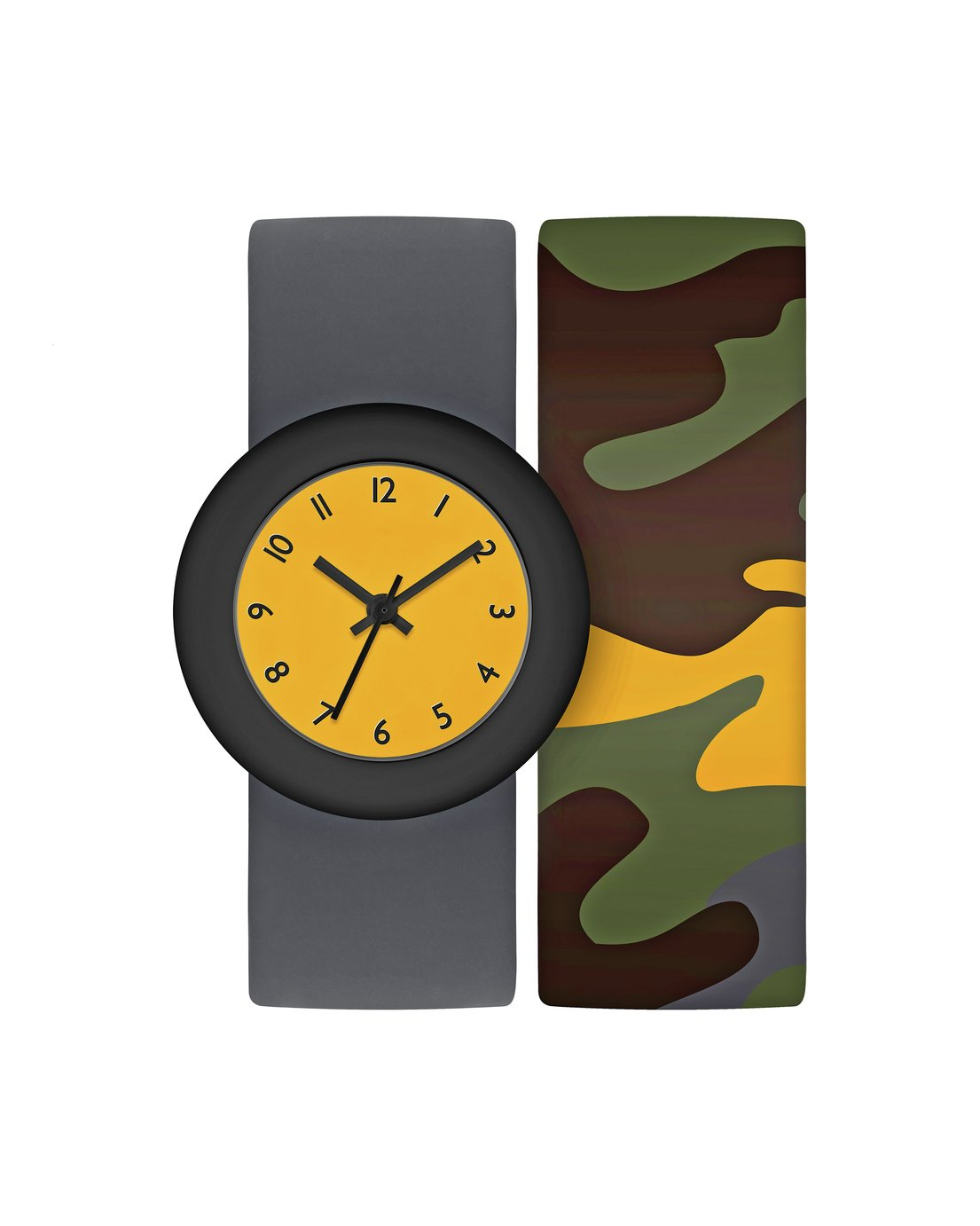 Tikkers Childrens Grey Snap Band Strap Watch