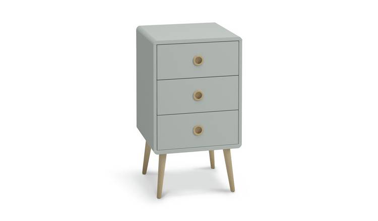 Argos Home Softline 3 Drawer Bedside Table - Grey