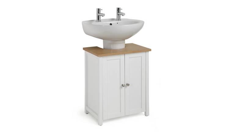 Buy Argos Home Livingston Under Sink White Bathroom Shelves