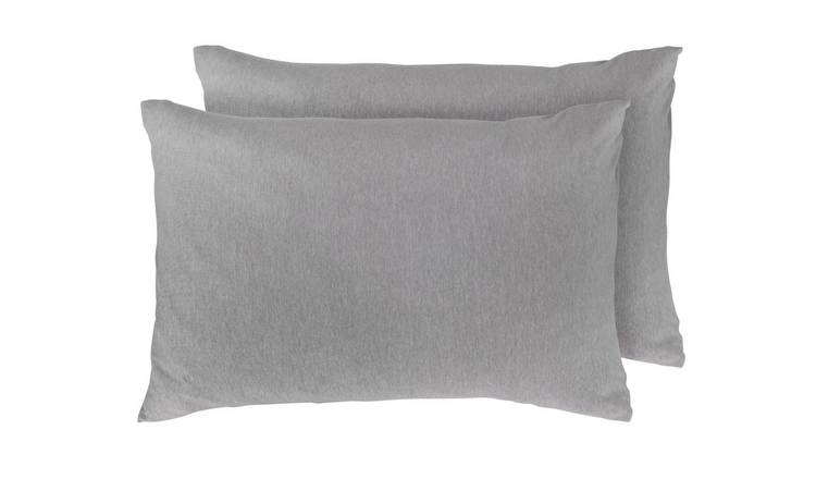 Argos Home Jersey Marl Pair of Standard Pillowcases - Grey