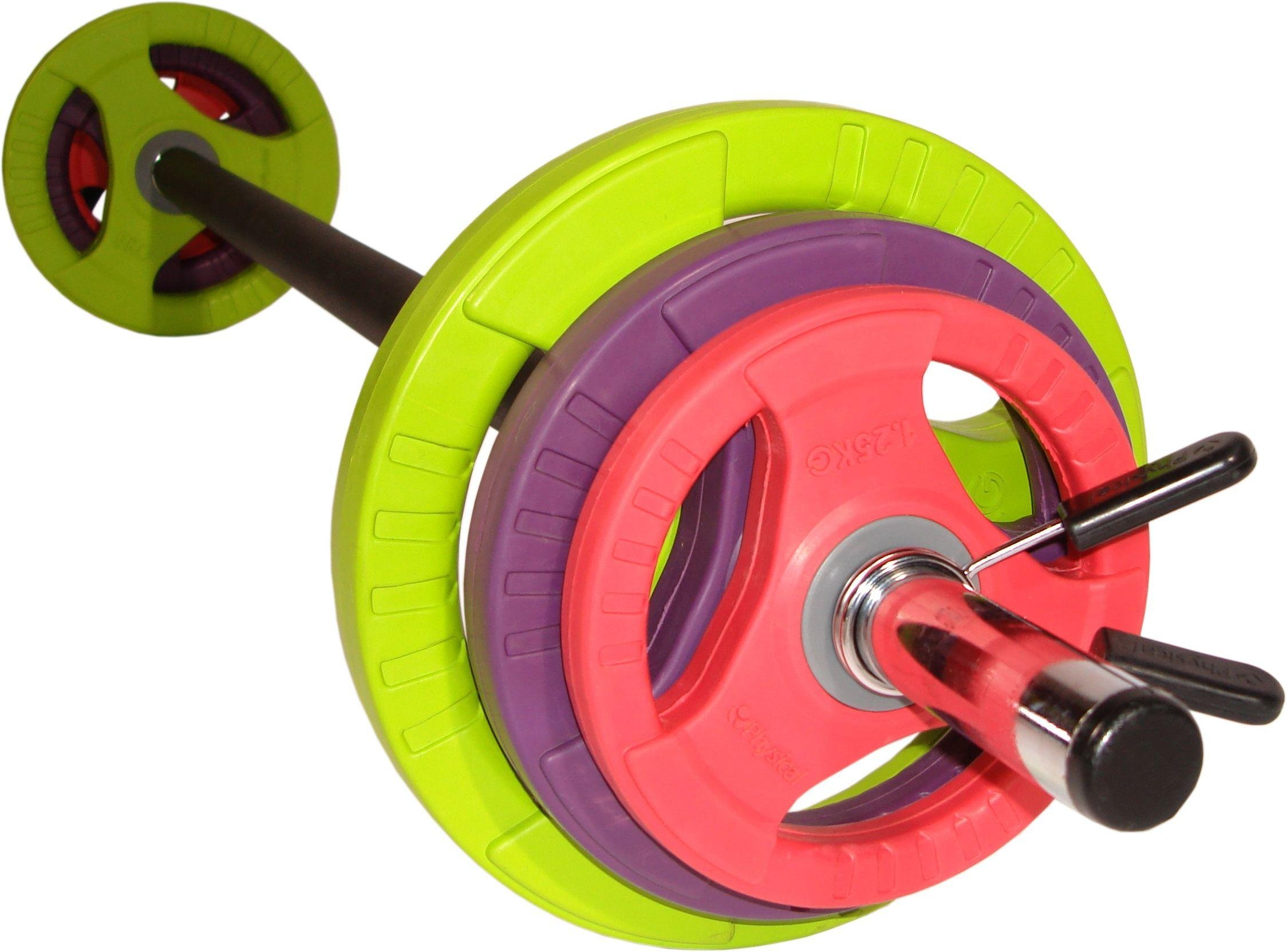 Physical Company Pump Set - Black Bar and Coloured Discs. lowest price