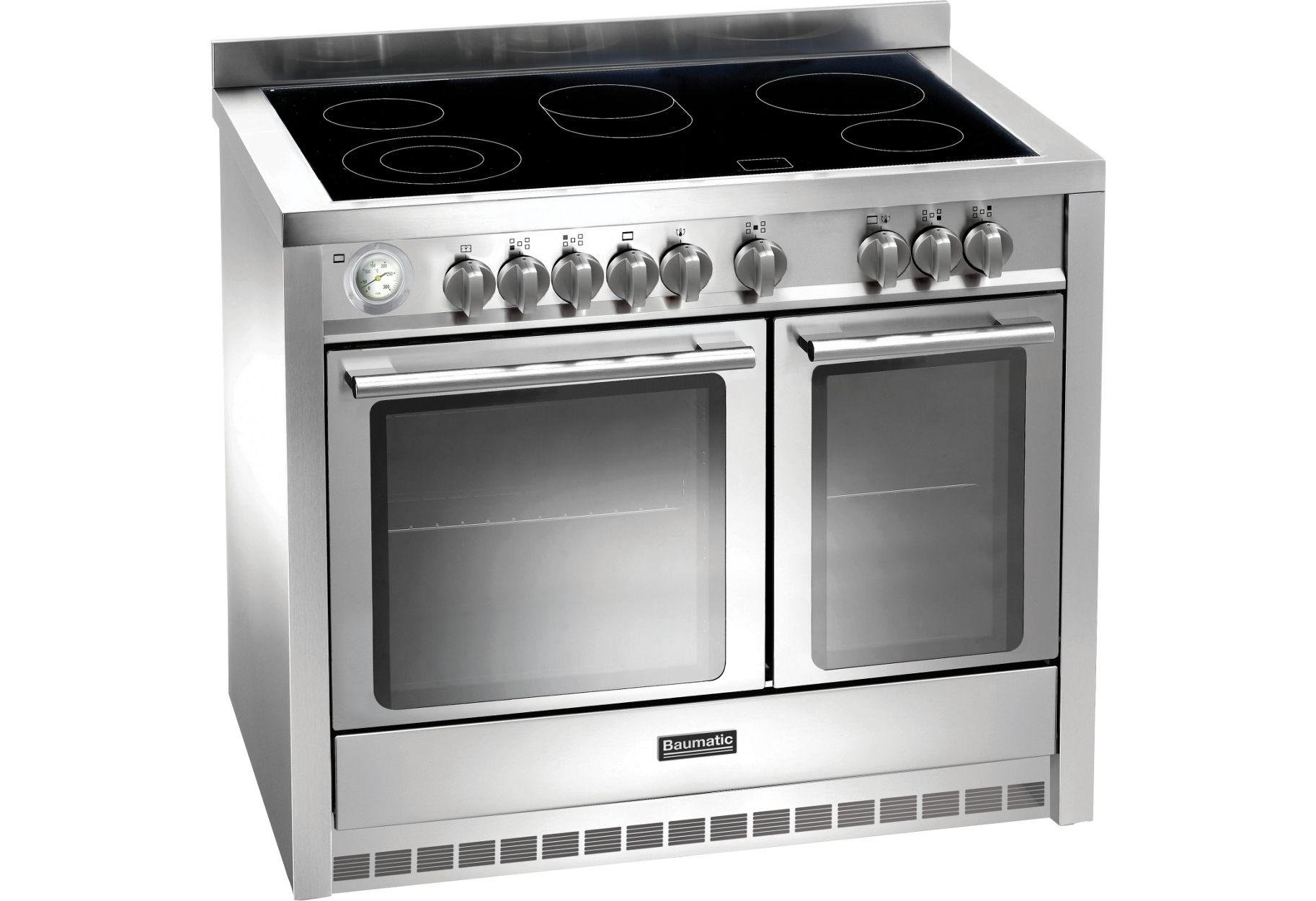 Image of Baumatic BCE1025 Electric Range Cooker - Stainless Steel.