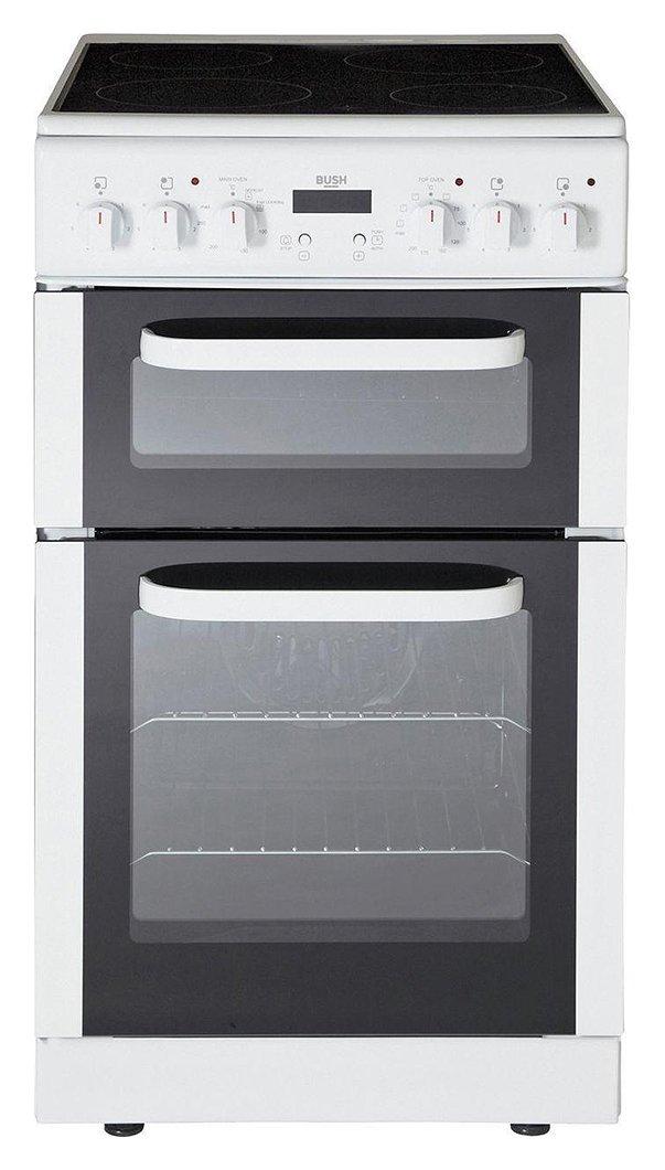 bush bedc50w electric cooker white. Black Bedroom Furniture Sets. Home Design Ideas