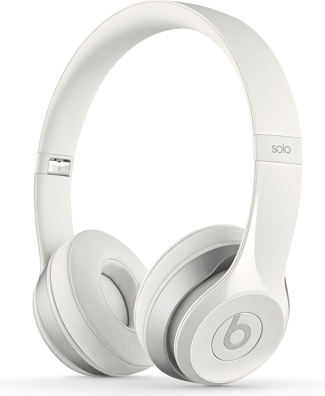 Image of Beats - by Dr Dre Solo 20 On-Ear Headphones - White