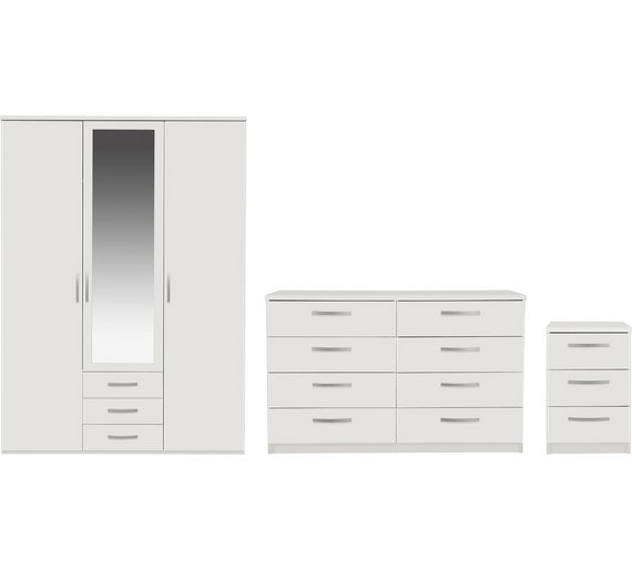 Buy Collection New Hallingford 3pc 3dr Wardrobe Package White At Your Online