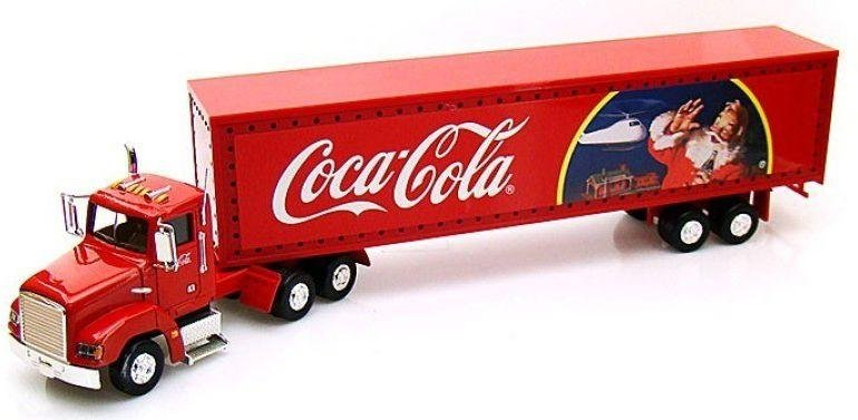 Image of Coca-Cola Light Up Christmas Truck Diecast Collectors Model.