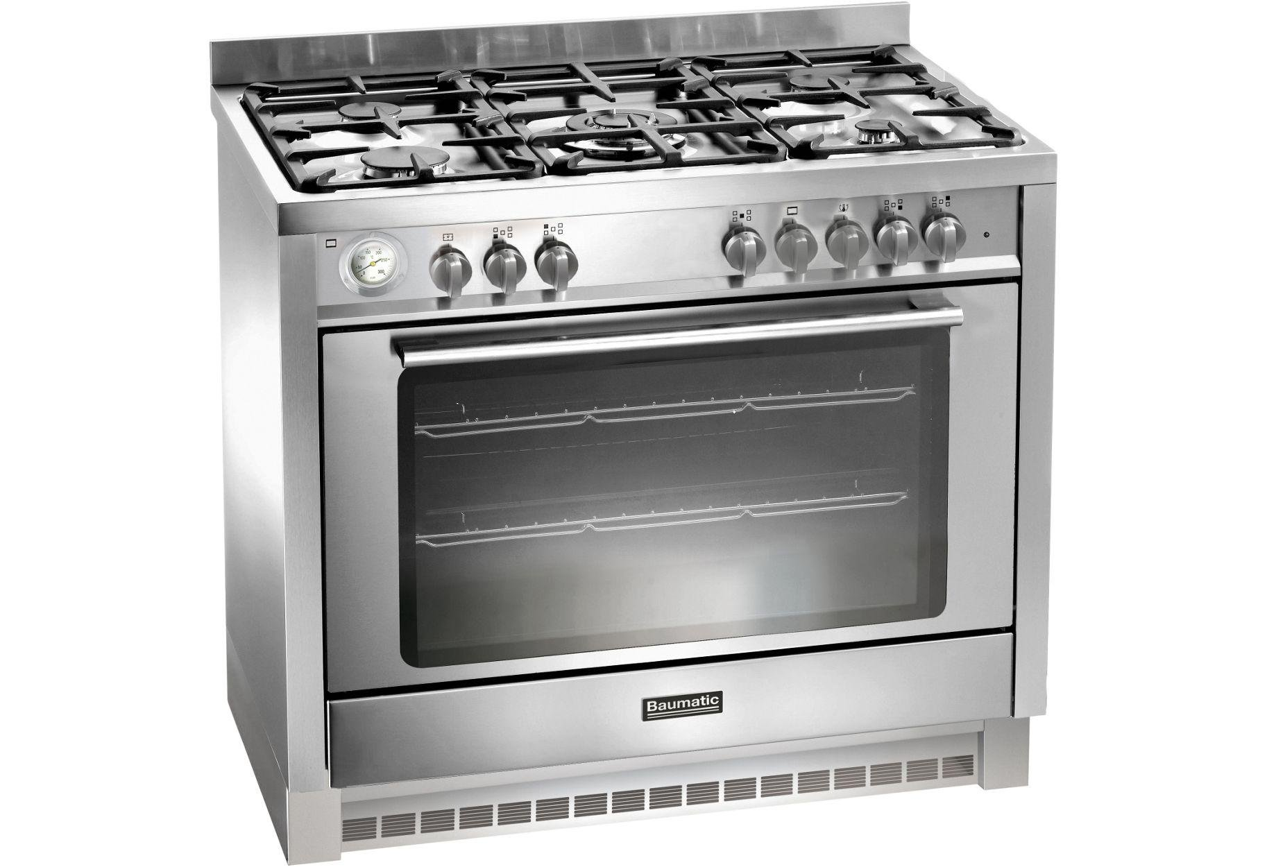 Image of Baumatic BCD905 Dual Fuel Range Cooker - Stainless Steel.