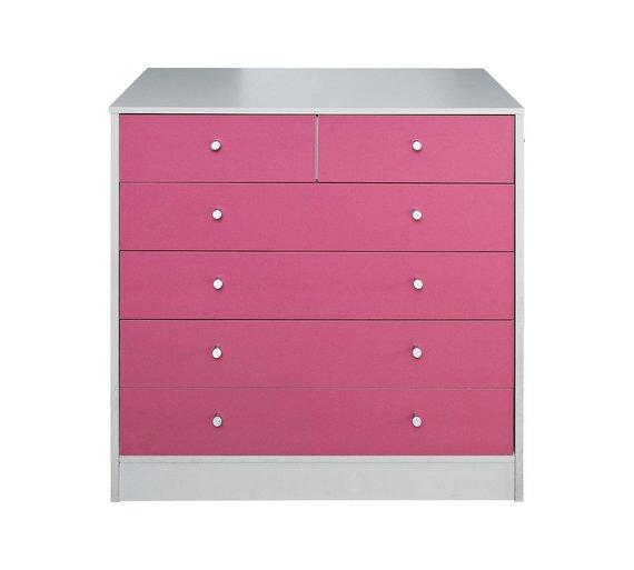 Buy Argos Home Malibu Pink White 4 2 Chest Of Drawers Kids
