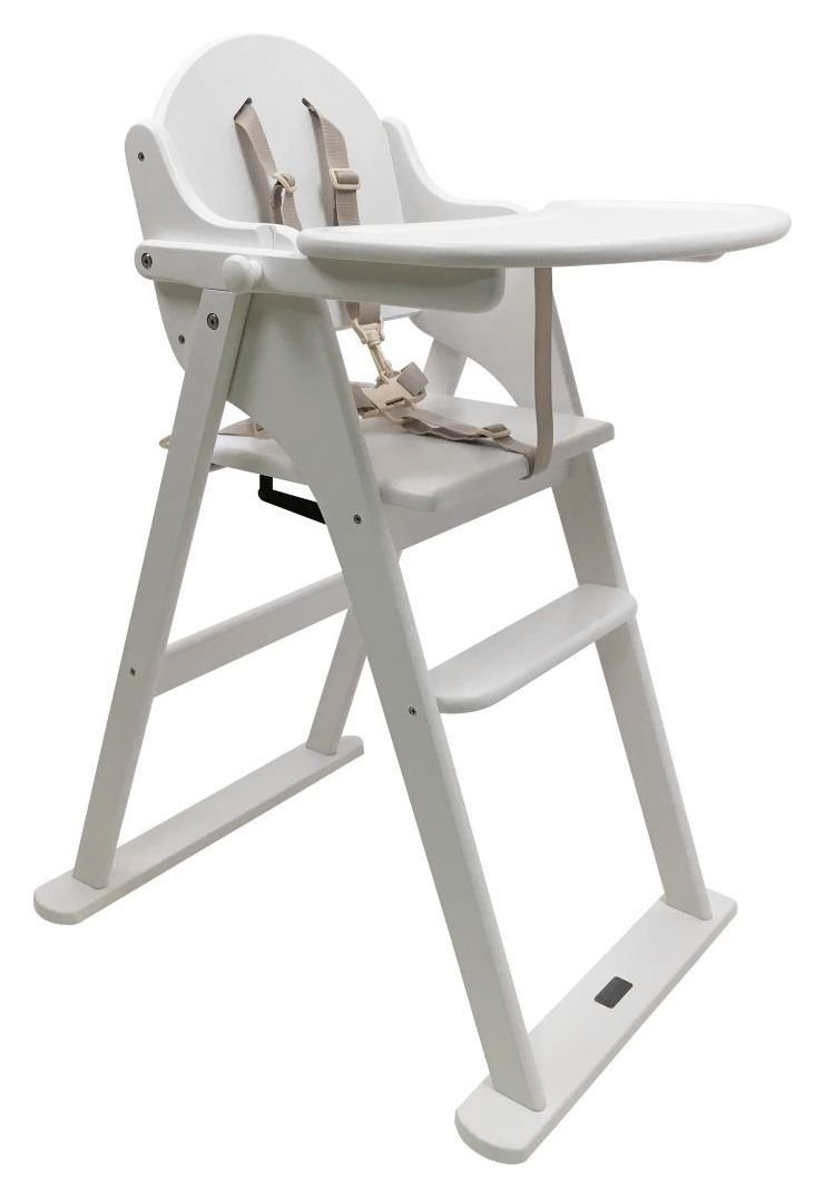 Image of East Coast - Nursery Folding - Highchair - White