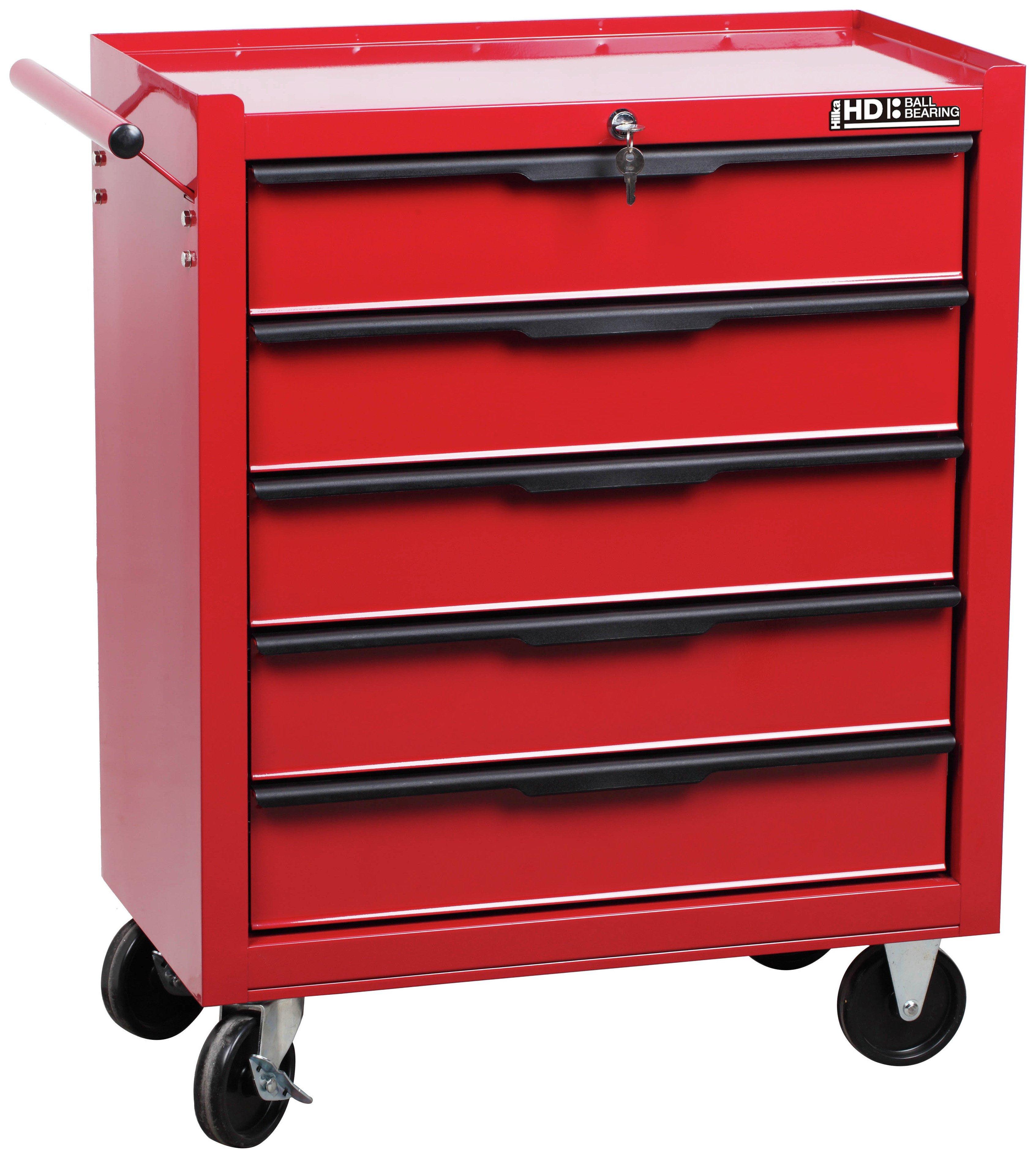 hilka 5 drawer tool trolley. Black Bedroom Furniture Sets. Home Design Ideas