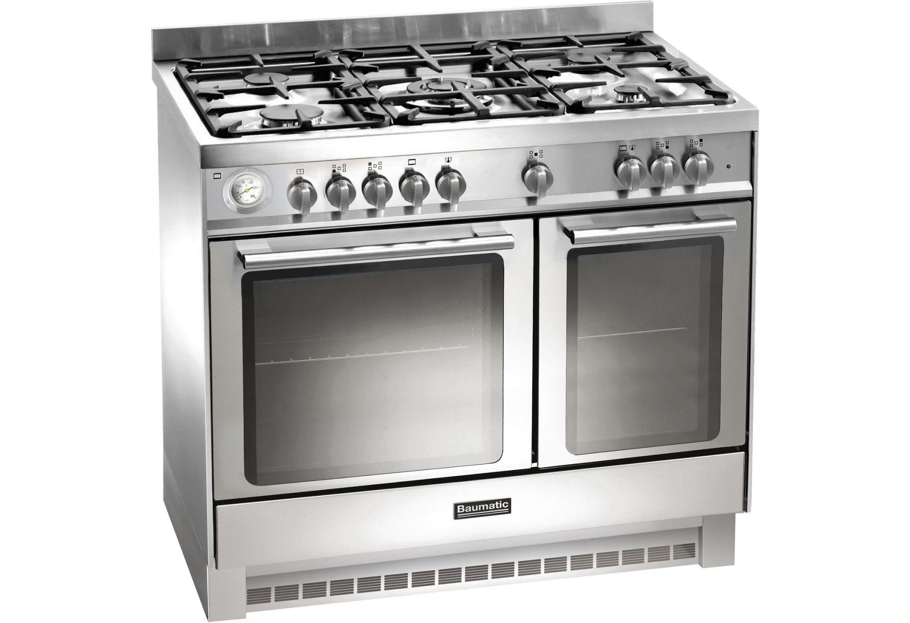 Image of Baumatic BCD925 Dual Fuel Range Cooker - Stainless Steel.