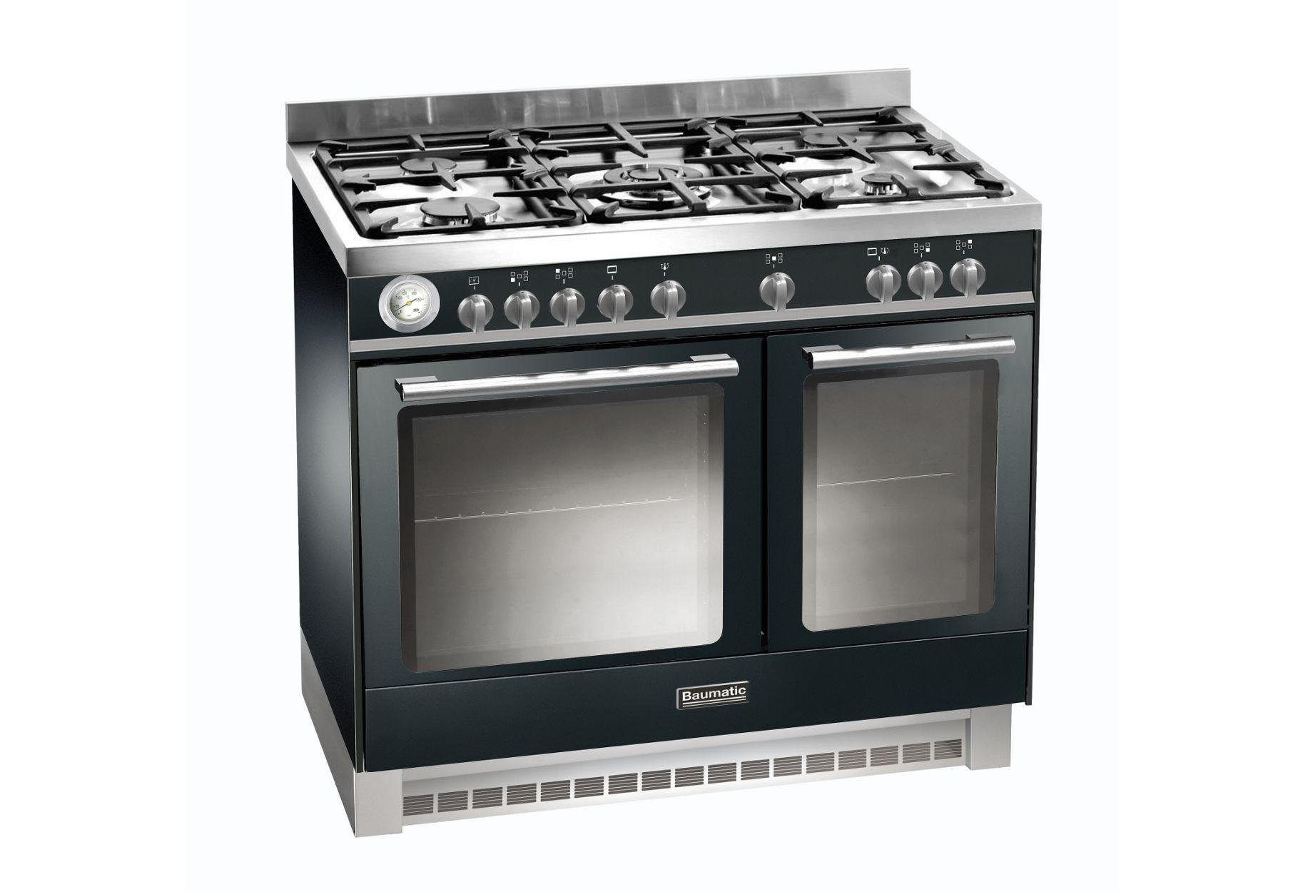 Image of Baumatic BCD925 Dual Fuel Range Cooker - Black.