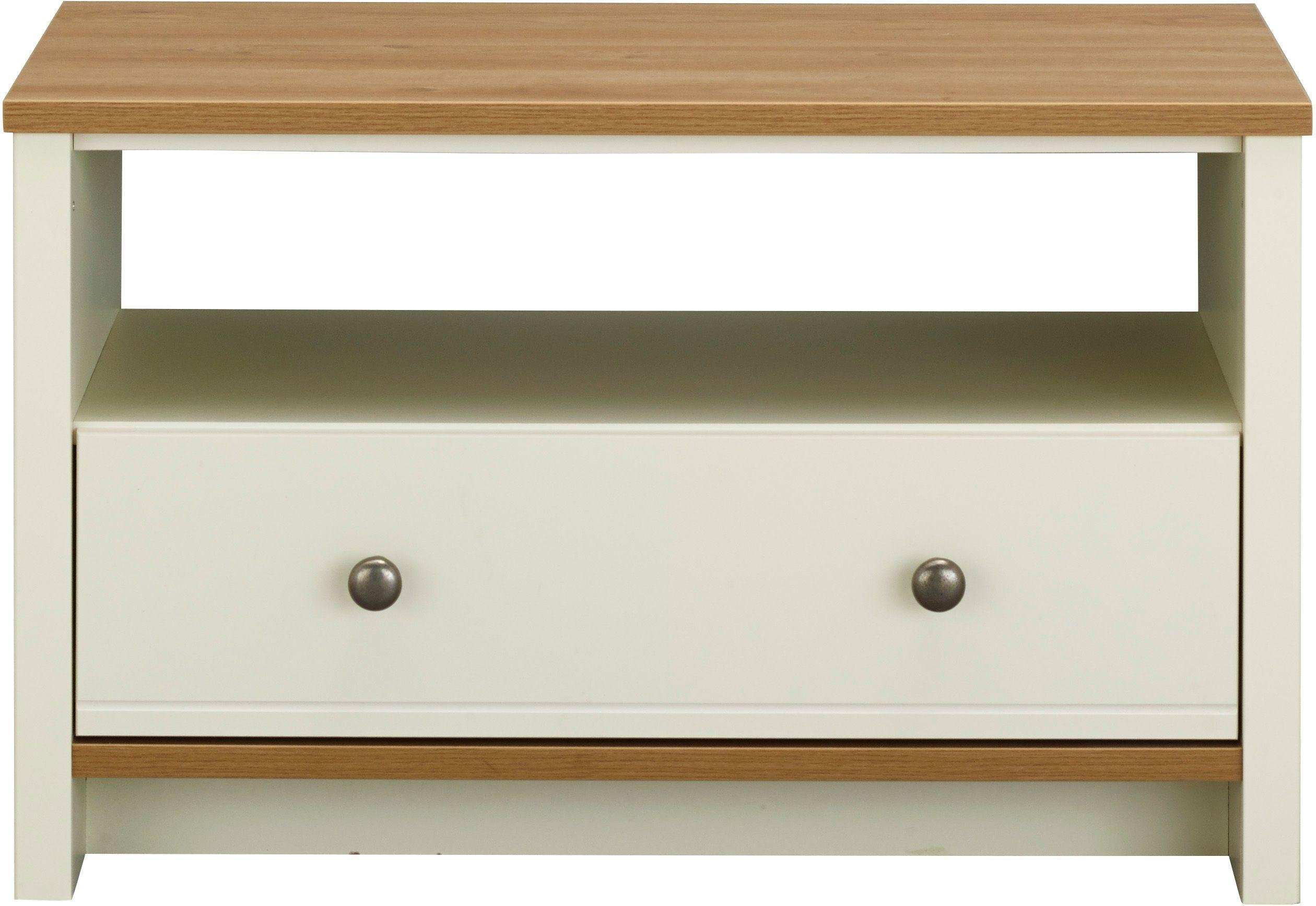 Image of Malmo 1 Drawer Coffee Table - Two Tone.