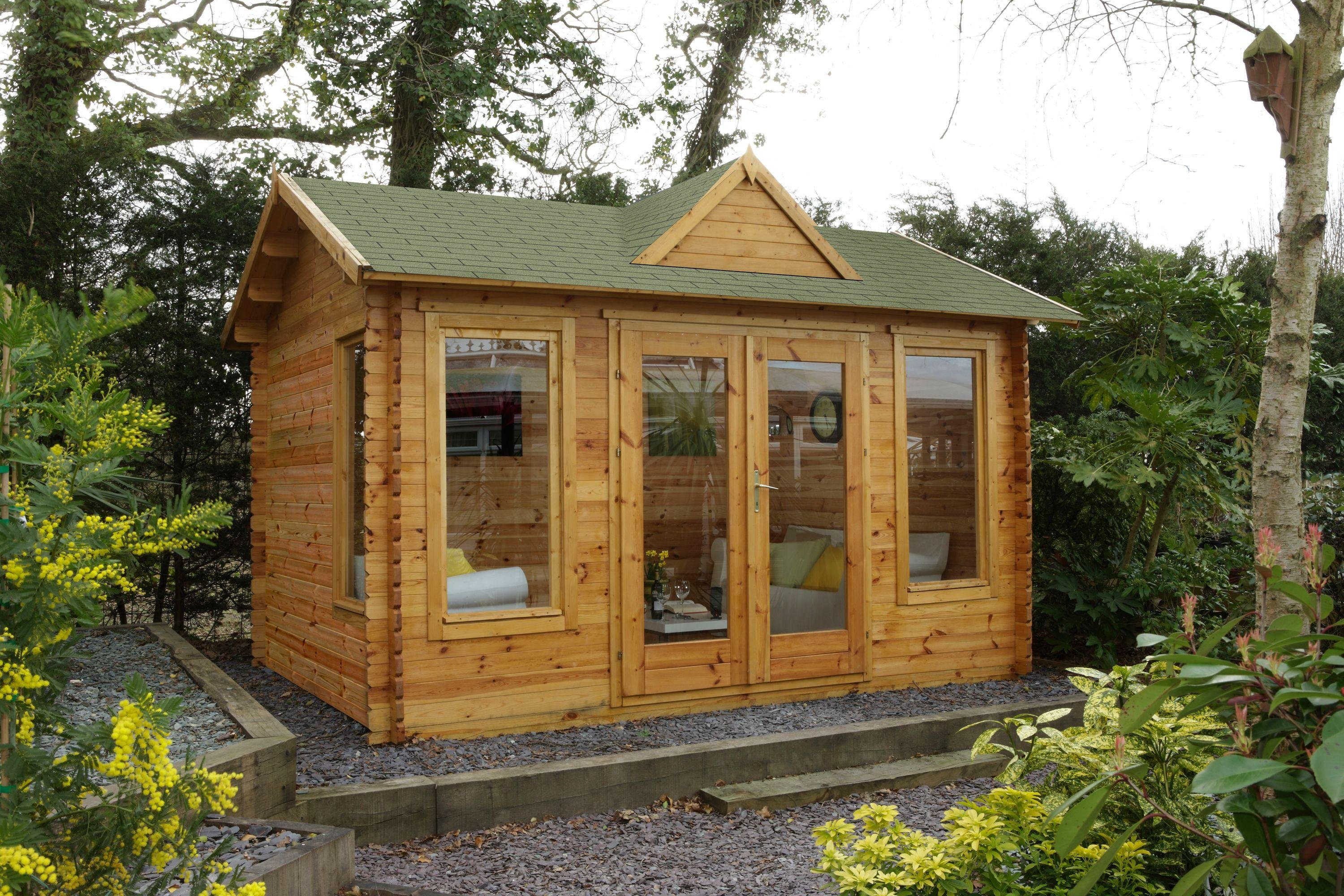 Forest - Alderley Wooden Log Cabin - 14 x 10ft