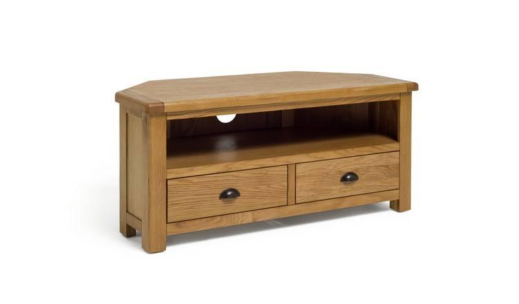 super popular 81c3d a6d92 Buy Argos Home Kent 2 Drawer Oak & Oak Veneer Corner TV Unit | TV stands |  Argos