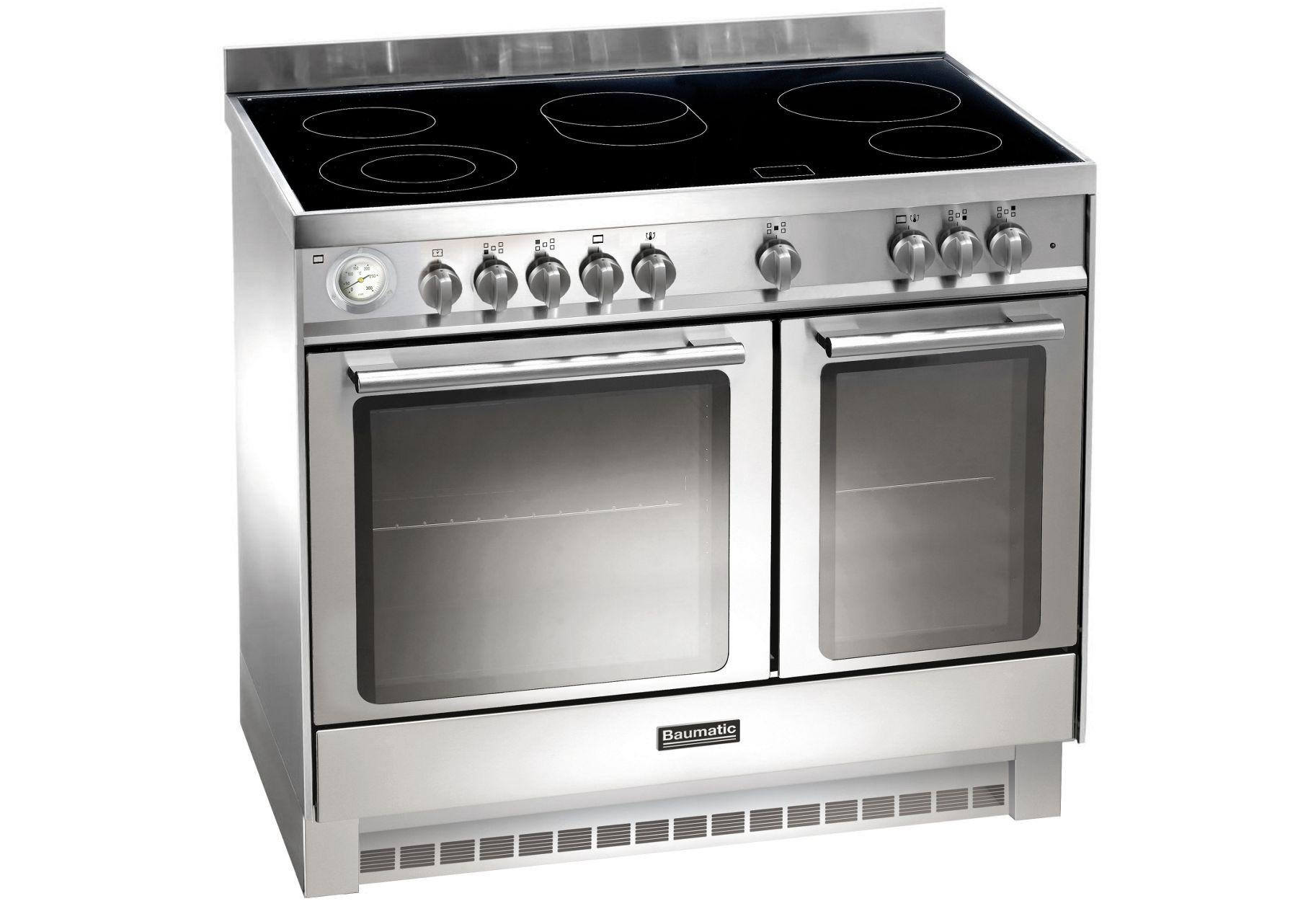 Image of Baumatic BCE 9255 Electric Range Cooker - Stainless Steel.