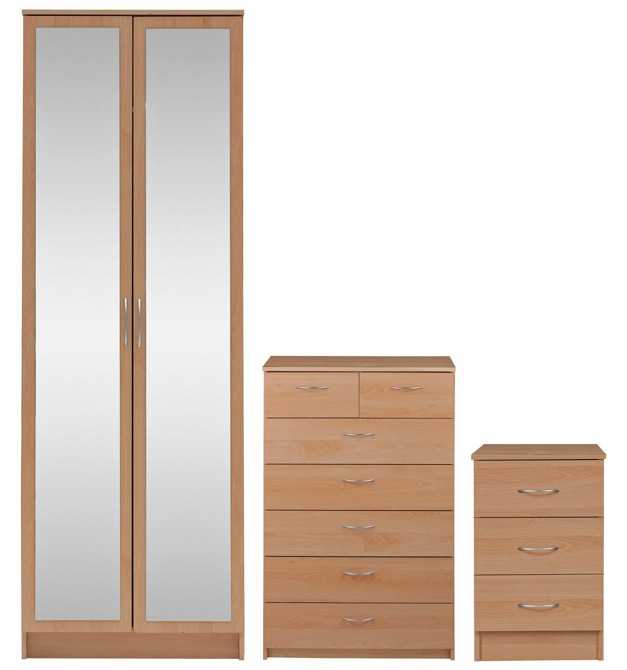 Sale On Argos Home Cheval 3 Pc 2 Dr Wardrobe Package