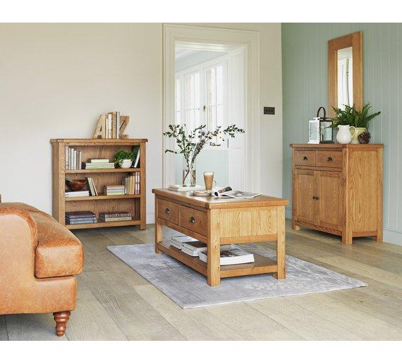 Buy Heart Of House Kent Small Solid Oak Veneer Sideboard At