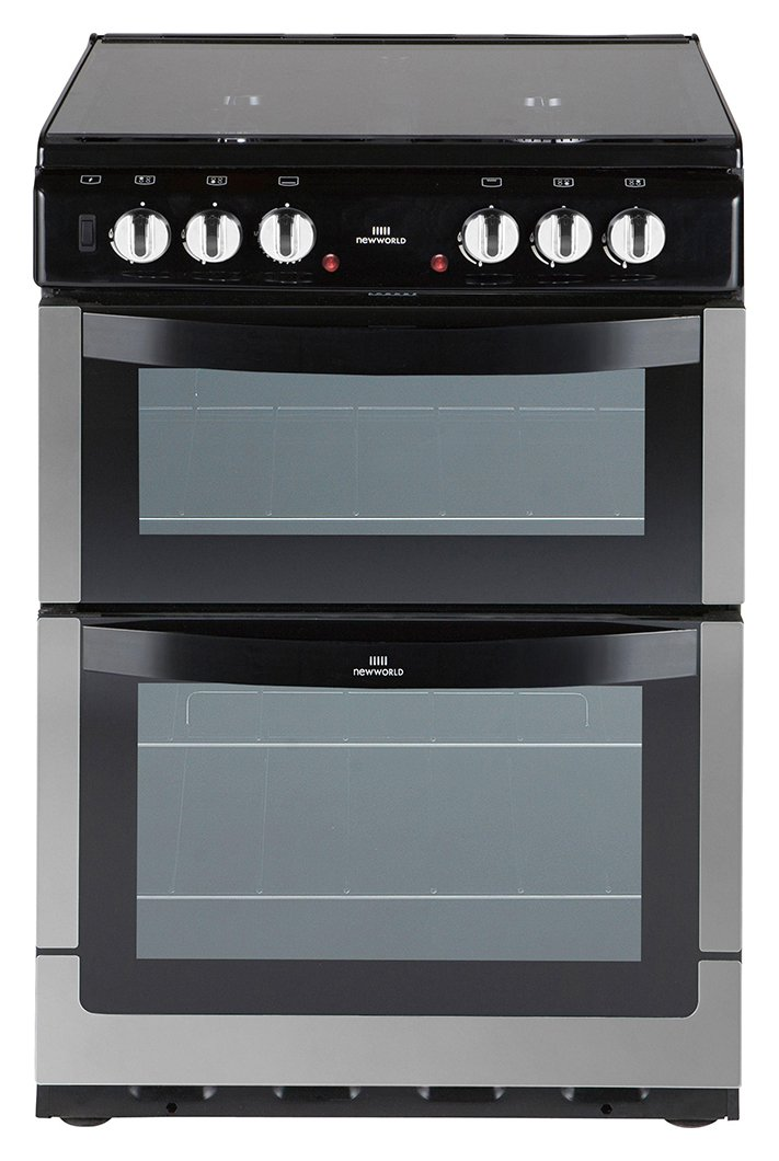 New World - 601DFDOL Double - Dual Fuel Cooker-Stainless Steel