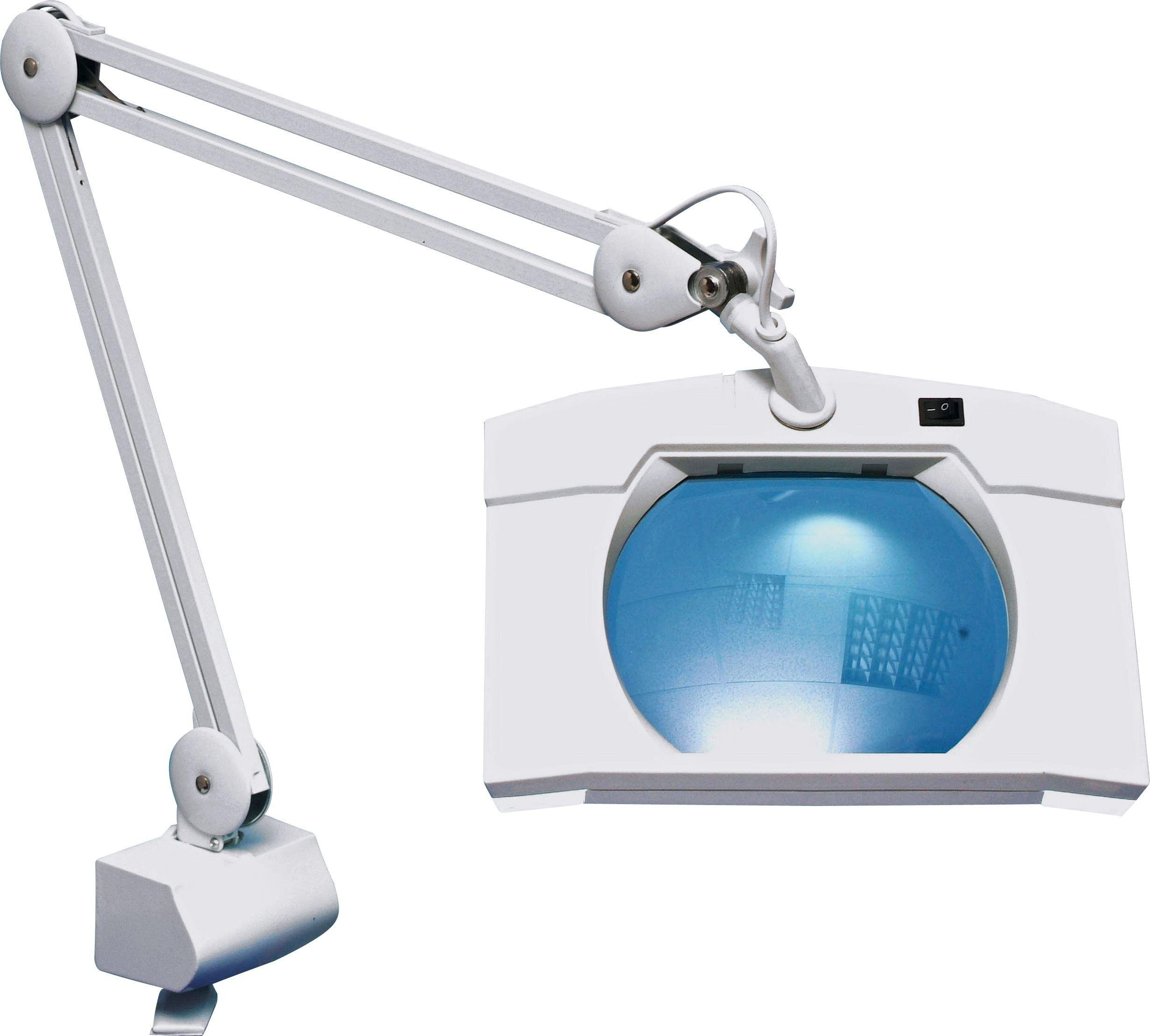 Image of Square Extendable Magnifier Lamp with Table Clamp