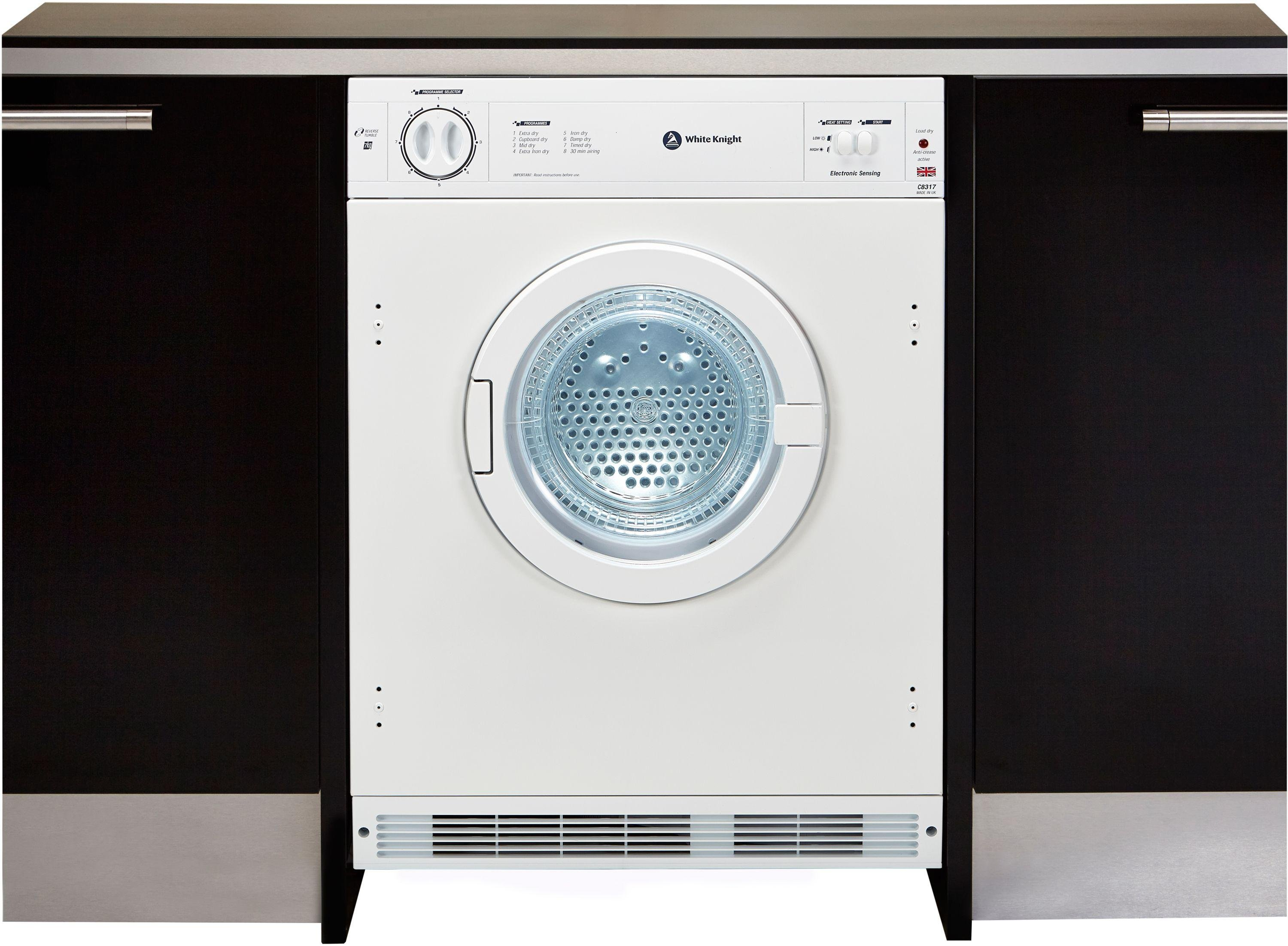 Sale On White Knight C8317wv Integrated Tumble Dryer