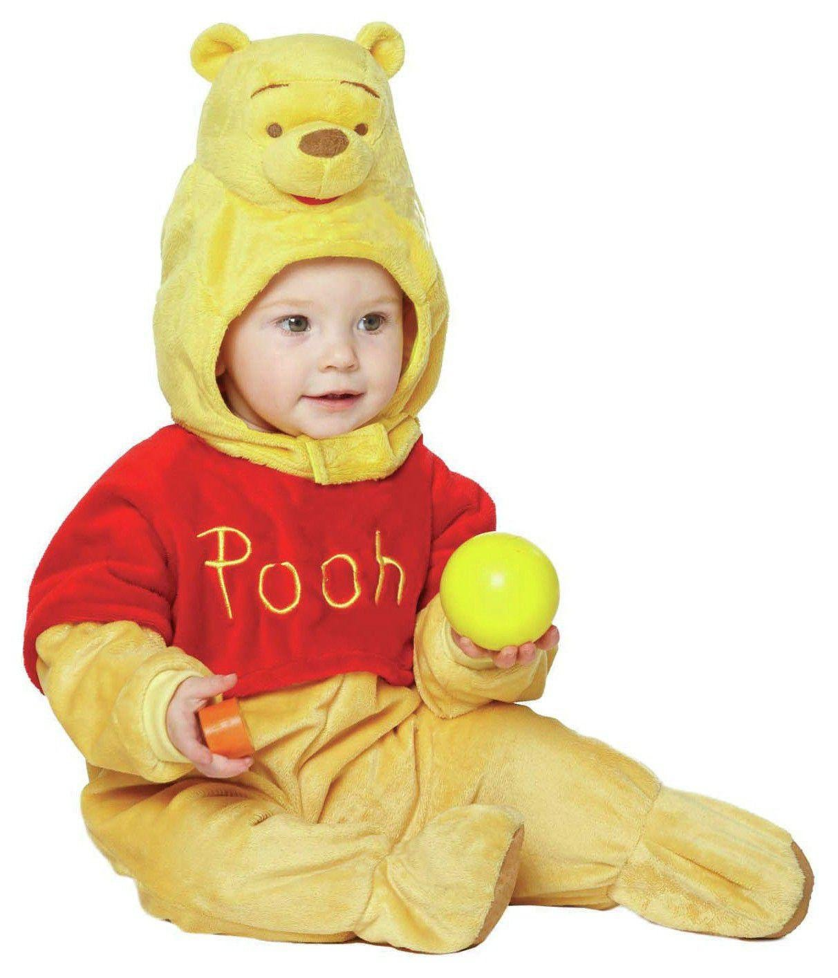 Disney Baby Winnie the Pooh with Moulded Head - 6-12 Months.