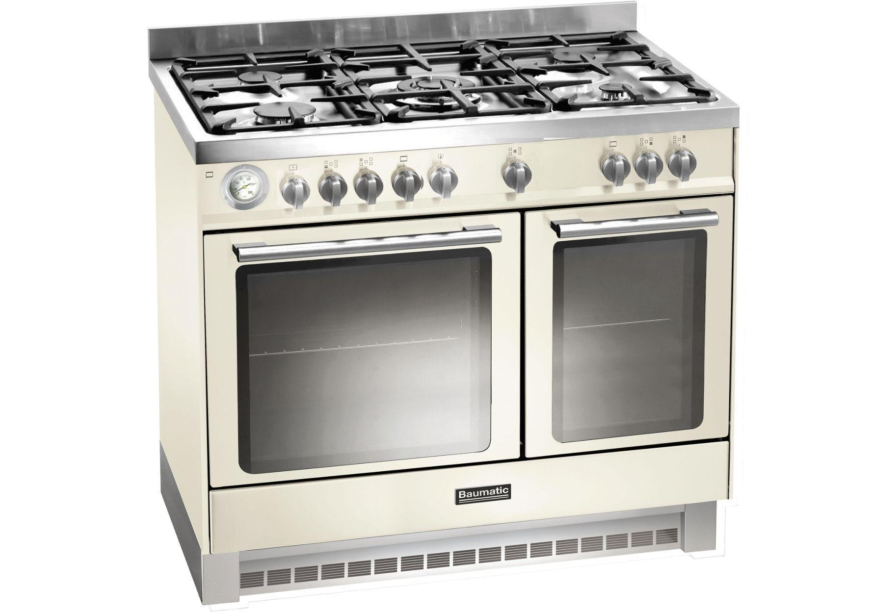 Image of Baumatic BCD925 Dual Fuel Range Cooker - Ivory.